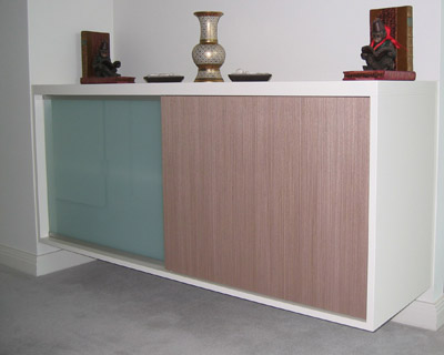 cantilevered hall table